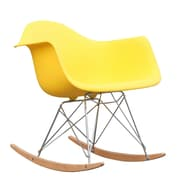 Fine Mod Imports Rocker Arm Chair, Yellow (FMI2013-yellow)