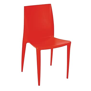 Fine Mod Imports Square Dining Chair, Orange (FMI2015-orange)