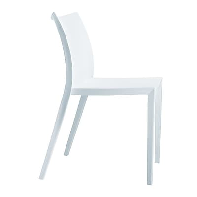 Fine Mod Imports Square Dining Chair, White (FMI2015-white)
