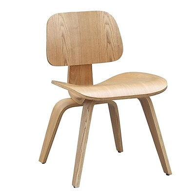 Fine Mod Imports Plywood Dining Chair, Natural (FMI2019-natural)