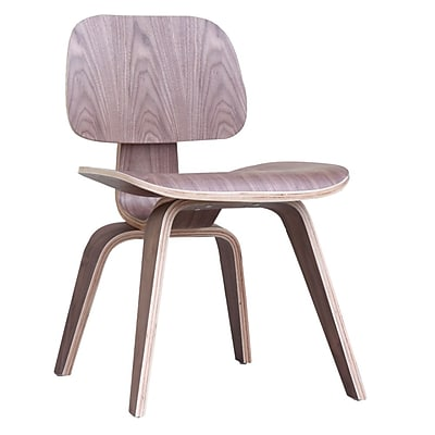 Fine Mod Imports Plywood Dining Chair, Walnut (FMI2019-walnut)