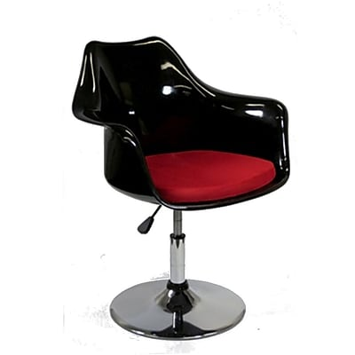 Fine Mod Imports Lilly Arm Chair, Black (FMI2128-black)