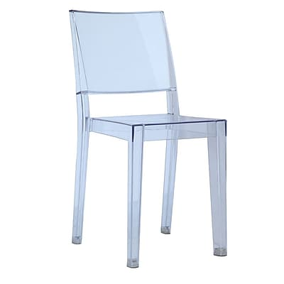 Fine Mod Imports Clear Square Side Chair, Clear (FMI6004-clear)