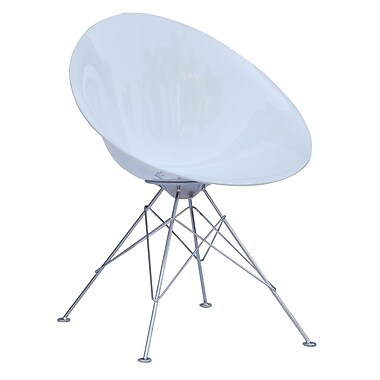 Fine Mod Imports Eco Wirebase Dining Chair, White (FMI9226-white)