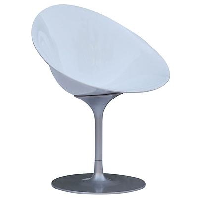 Fine Mod Imports Eco Flatbase Dining Chair, White (FMI9227-white)