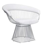 Fine Mod Imports Libo Chair, White (FMI9229-white)