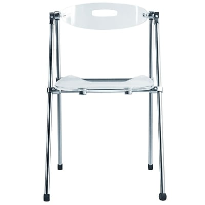 Fine Mod Imports Acrylic Folding Chair, Clear (FMI9232-clear)