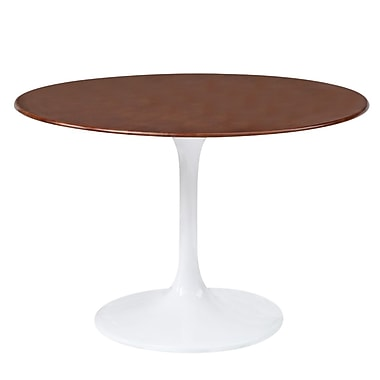 Fine Mod Imports Flower Table Wood Top 36