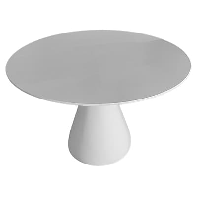 Fine Mod Imports Vase Base Dining Table, White (FMI10107-30-white)