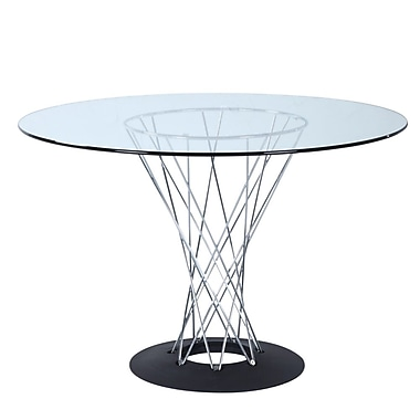 Fine Mod Imports Eastern Dining Table, Glass (FMI10241-glass)