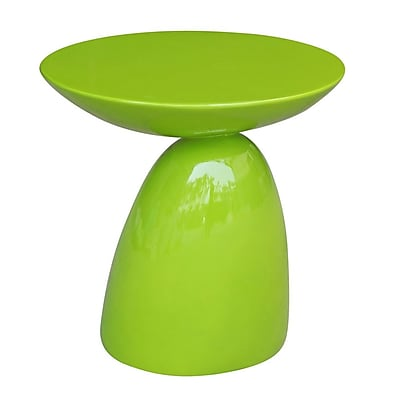Fine Mod Imports Oval End Side Table, Green (FMI1145-green)