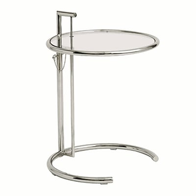 Fine Mod Imports Round End Side Table, Clear (FMI1201-clear)