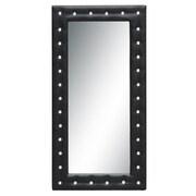 Fine Mod Imports Tufted Mirror, Black (FMI10073-black)