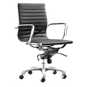 Fine Mod Imports Lider Office Chair Mid Back, Black (FMI10060-black)