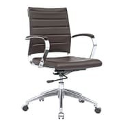 Fine Mod Imports Sopada Conference Office Chair Mid Back, Dark Brown (FMI10077-dark brown)