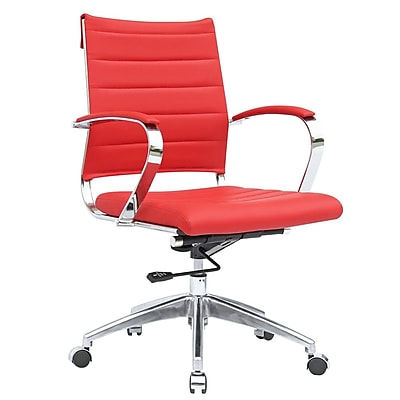 Fine Mod Imports Sopada Conference Office Chair Mid Back, Red (FMI10077-red)