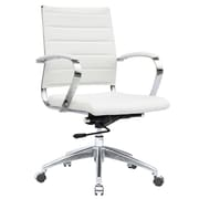 Fine Mod Imports Sopada Conference Office Chair Mid Back, White (FMI10077-white)
