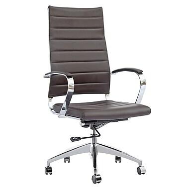 Fine Mod Imports Sopada Conference Office Chair High Back, Dark Brown (FMI10078-dark brown)