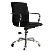 Fine Mod Imports Confreto Conference Office Chair Mid Back, Black  (FMI10170-black)