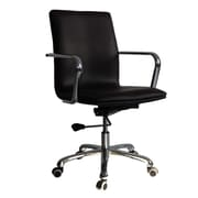 Fine Mod Imports Confreto Conference Office Chair Mid Back, Dark Brown (FMI10170-dark brown)