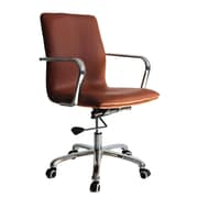 Fine Mod Imports Confreto Conference Office Chair Mid Back, Light Brown (FMI10170-light brown)
