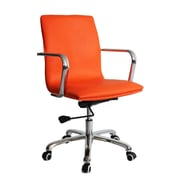 Fine Mod Imports Confreto Conference Office Chair Mid Back, Orange (FMI10170-orange)