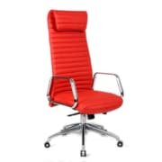 Fine Mod Imports Ox Office Chair High Back, Red (FMI10178-red)