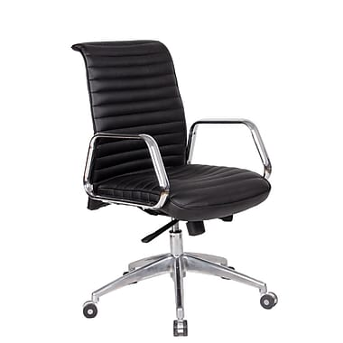Fine Mod Imports Ox Office Chair Mid Back, Black (FMI10179-black)