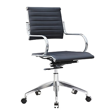 Fine Mod Imports Flees Office Chair High Back, Black (FMI10210-black)