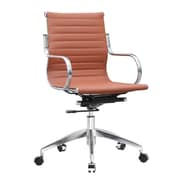Fine Mod Imports Twist Office Chair Mid Back, Light Brown (FMI10226-light brown)
