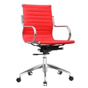 Fine Mod Imports Twist Office Chair Mid Back, Red (FMI10226-red)