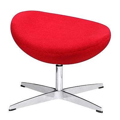Fine Mod Imports Inner Ottoman Fabric, Red (FMI1208-F-red)