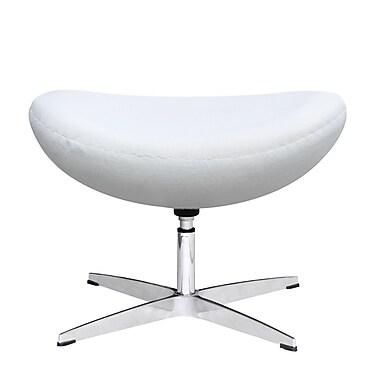 Fine Mod Imports Inner Ottoman Fabric, White (FMI1208-F-white)