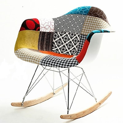 Fine Mod Imports Patterned Rocker Arm Chair, (FMI10098-colored)