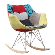 Fine Mod Imports Ginger Rocker Arm Chair, (FMI10099-colored)