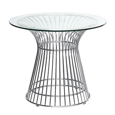 Fine Mod Imports Wire Side Table, Glass (FMI10081-glass)