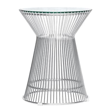 Fine Mod Imports Platner Side Table, Glass (FMI10082-glass)