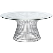 Fine Mod Imports Wire Side Table, Silver (FMI10085-silver)