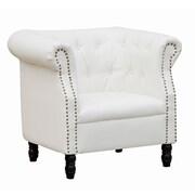 Fine Mod Imports Chester Chair, White (FMI10182-white)