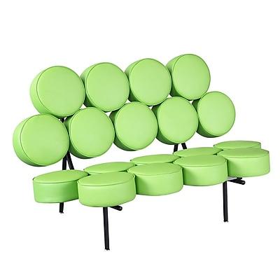 Fine Mod Imports Circle Sofa, Green (FMI1121-green)