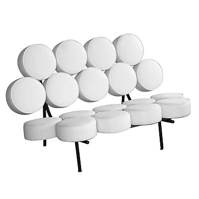 Fine Mod Imports Circle Sofa, White (FMI1121-white)