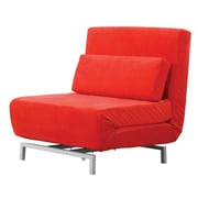 Fine Mod Imports Romano Convertible Sofa, Red (FMI9997-red)