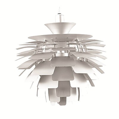 Fine Mod Imports Artichoke Leaf Lamp, Silver (FMI2000-silver)