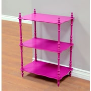 Mega Home Etagere Bookcase; Pink