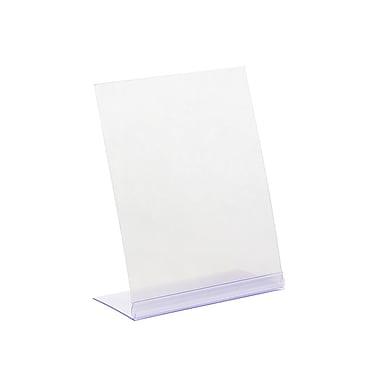 KostklipMD – Porte-affiche incliné L-Style, 5,5 x 7 po, transparent, 25/paquet (102 L-100427)
