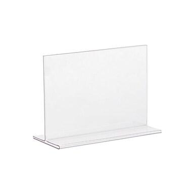 Kostklip® – Porte-affiche monopièce en T, 5 po x 7 po, incolore, paq./25 (TLTS-105233)