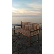 Trijaya Living Waterford Teak Park Bench; Flax