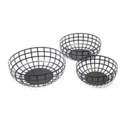 Sagebrook Home 3 Piece Metal Basket Set