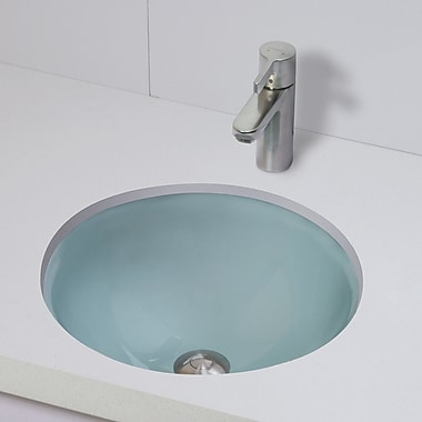 DecoLav Translucence Ceramic Circular Undermount Bathroom Sink; Frosted Natural Crystal