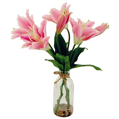 LCGFlorals Tiger Lilies in Glass Bottle